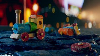 """Projekt """"Lonely Toy Train"""" von Philipp Müller"""