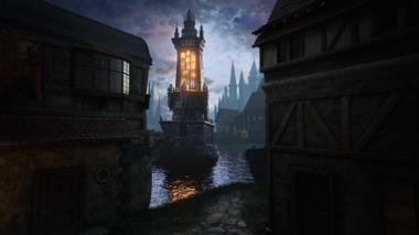 """Projekt """"Fantasy Tower Sunrise"""" von Jens Wisser"""